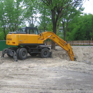 Digging of one of 15 ditches at construction of the residential district Sotsgorod